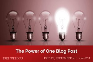 The Power of One Blog Post